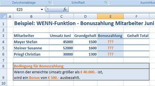 Grafik Excel Wenn Funktion - Bild 1