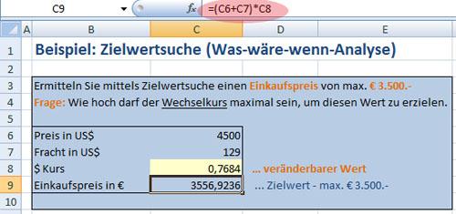 Beispiel Zielwertanalyse - Bild 1