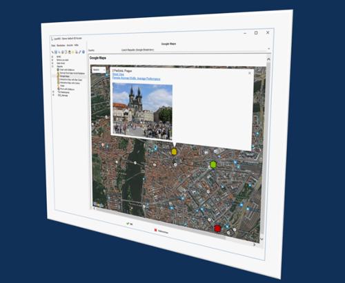 Reporting - Interaktive Karten mit Detaildaten